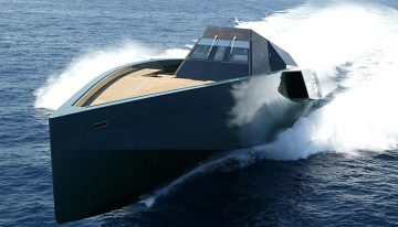 Wallypower 118 superyacht e cammini a testa alta.