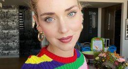 Chiara Ferragni e il Rainbow look