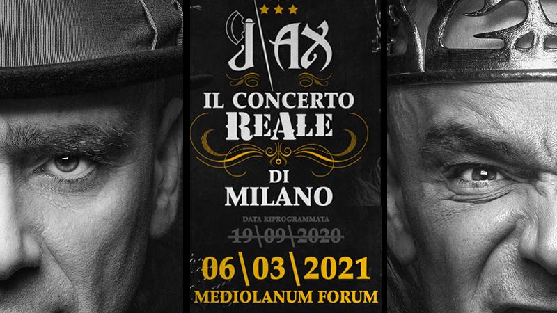 J-AX – POSTICIPATA la data evento 'Il concerto Reale di Milano', ora prevista per sabato 6 MARZO 2021